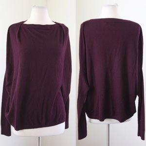 VINCE Plum Dolman Cashmere Sweater